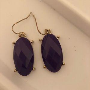 jcrew purple earrings